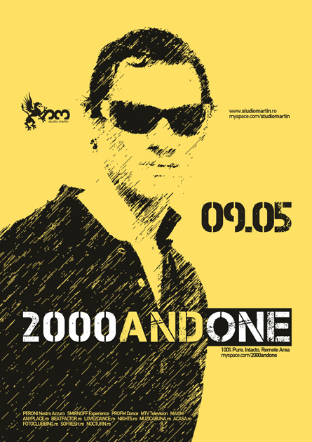 2000 and One, Studio Martin, poster design by Alex Tass
