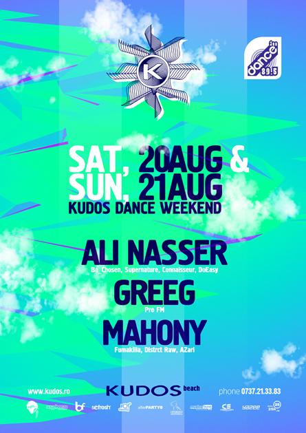 Ali Nasser, Greeg, Kudos Beach, poster design by Alex Tass