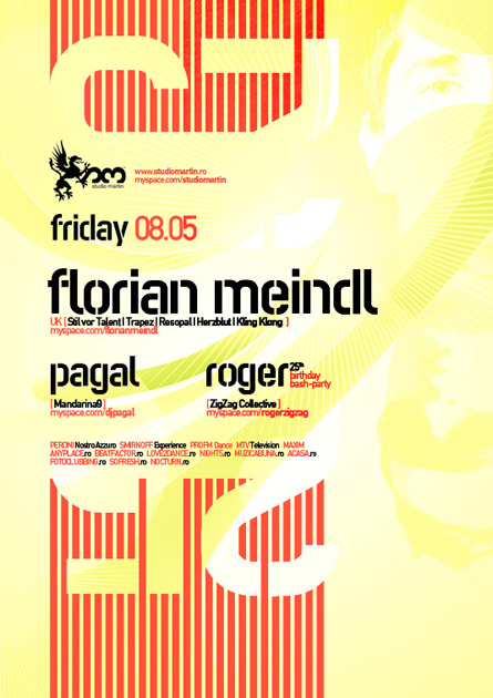 Florian Meindl, Stil vor Talent, Kling Klong, Pagal, Studio Martin, poster design by Alex Tass