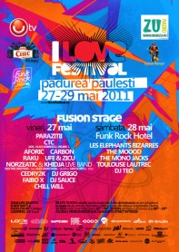 I love festival, Fusion stage poster design by Alex Tass