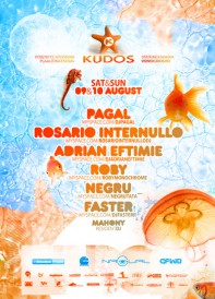 Pagal, Roby, Rosario Internullo, Adrian Eftimie, Roby, Negru, Kudos Beach, poster design by Alex Tass