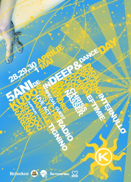 Psycho Radio, Daniele Tignino, Rhadoo, Pedro, Raresh, [a:rpia:r], Pagal, Kudos Beach, poster design by Alex Tass