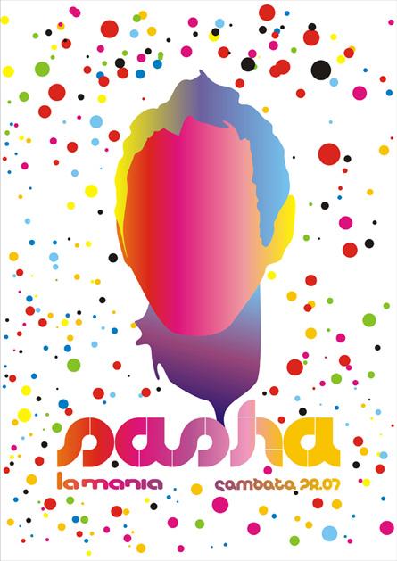 La Mania, Sasha, poster design by Alex Tass