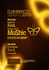 Moshic, Contrast Records, Kool, poster design by Alex Tass