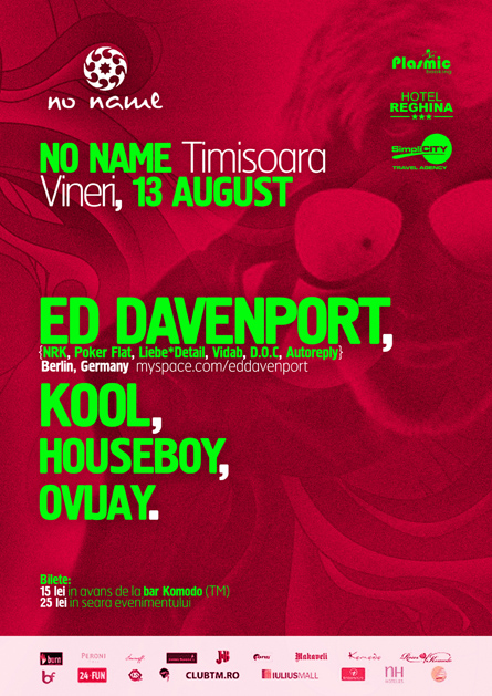 Ed Davenport, Poker Flat, Kool, No Name, poster design by Alex Tass
