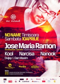 Jose Maria Ramon, Ibiza Global Radio, Space Ibiza, Kool, Narcisa, No Name, poster design by Alex Tass