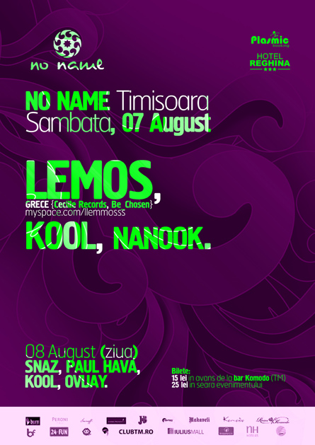 Lemos, Cecille records, Kool, No Name, poster design by Alex Tass