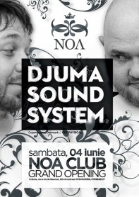 Djuma Soundsystem, Get Physical, Noa Club, opening party, poster design by Alex Tass
