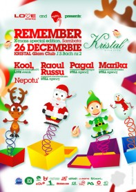 Pagal, Marika, Kool, Raoul Russu, Christmas party, poster design by Alex Tass