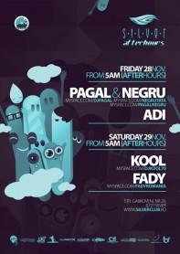 Silver, Afterhours, Pagal, Negru, Kool, Adi, Fady, poster design by Alex Tass