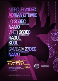 Adrian Eftimie, Kool, Raoul, Posh Club, poster design by Alex Tass