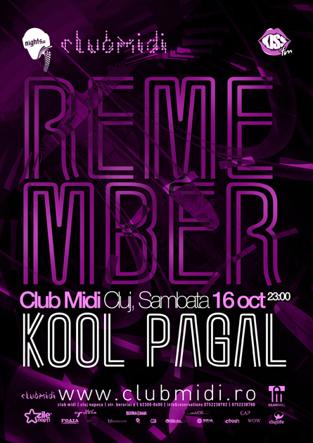 Remember, Kool, Pagal, poster design by Alex Tass