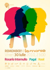 Remember, Rosario Internullo, Pagal, Kool, poster design by Alex Tass