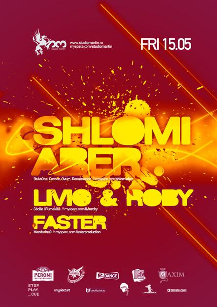 Shlomi Aber, BeAsOne, Cocoon, Livio and Roby, Studio Martin, poster design by Alex Tass