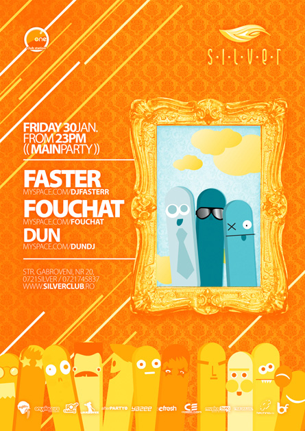 Silver Afterhours, Faster, Fouchat, Dun, poster design by Alex Tass