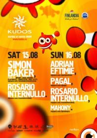 Kudos Beach, Simon Baker, Cocoon, 2020 Vision, Pagal, Rosario Internullo, Adrian Eftimie, poster design by Alex Tass
