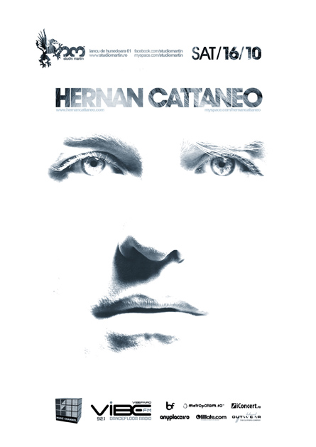 Hernan Cattaneo, Renaissance, Studio Martin, poster design by Alex Tass