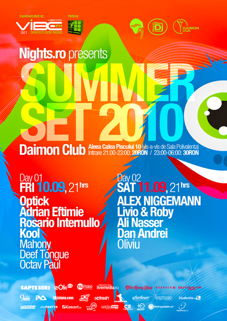 Summer Set, Alex Niggemann, Livio and Roby, poster design by Alex Tass