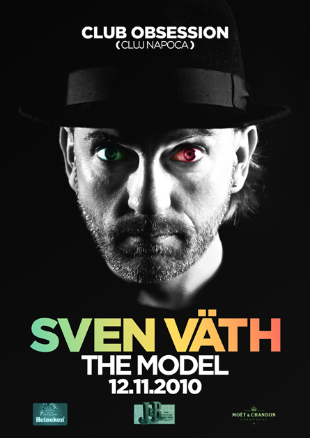 Obsession, Sven Vath, Cocoon Recordings, The Model, poster design by Alex Tass