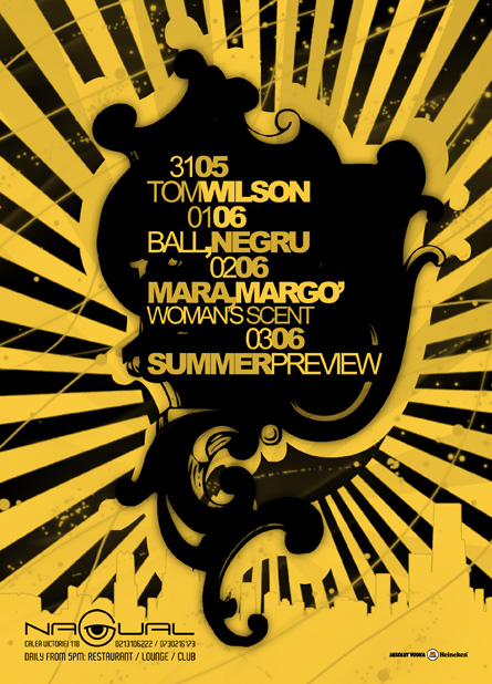 Nagual, Tom Wilson, Ball, Negru, Mara, Margo, poster design by Alex Tass
