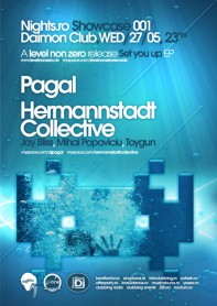 pagal, hermannstadt collective, nights.ro, showcase, space invaders, poster design by Alex Tass