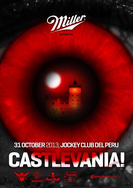 Halloween party Castlevania poster design by Alex Tass