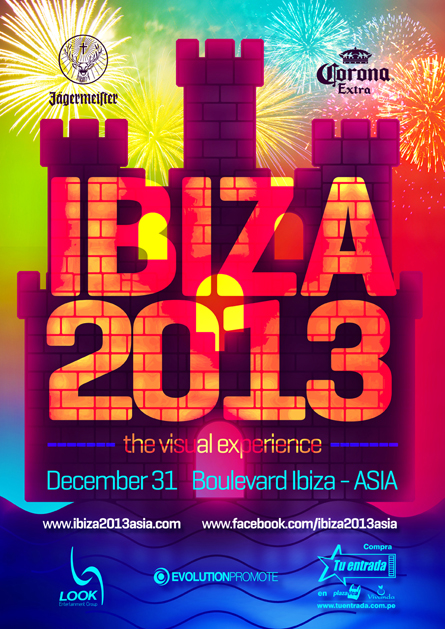 Ibiza 2013 NYE visual experience poster design by Alex Tass