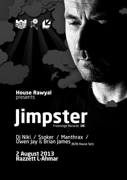 Jimpster Razzett L-Ahmar poster design by Alex Tass