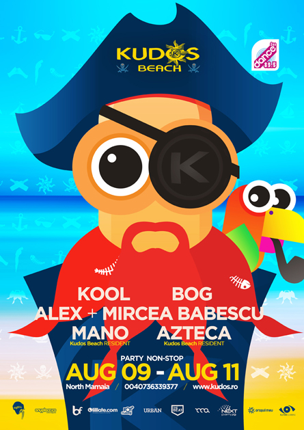 Kudos Beach bar club summer 2013 flyer poster design by Alex Tass
