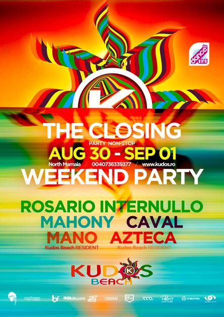 Kudos Beach bar club summer 2013 flyer poster design by Alex Tass