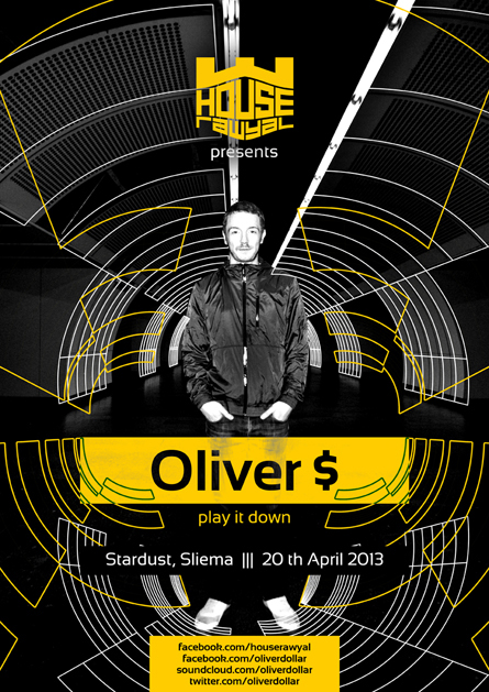 Oliver $ Stardust Sliema poster design by Alex Tass