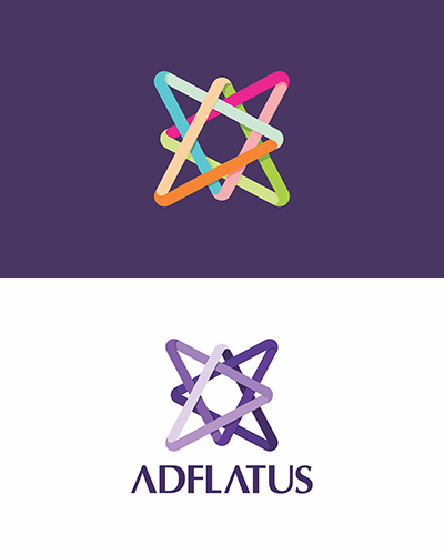 Adflatus, interior design, studio, company, residential, business, hotels, restaurants, real estate, logo design by Alex Tass