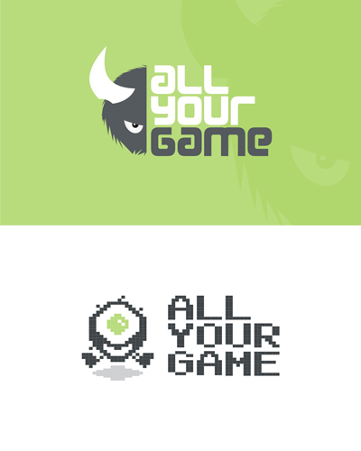 All your game, are belong to us, from gamers to gamers, hardcore gamers, gaming community, logo design