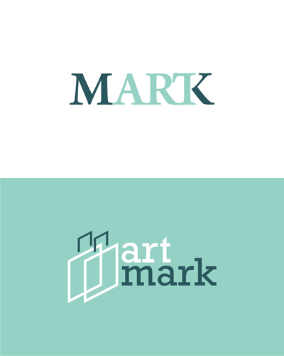 Art Mark, art auctions and events logo design for sale