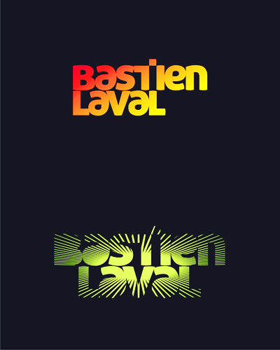 Bastien Laval, Paris, France, electronic music dj and producer logo design