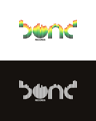 Bond Records, electronic music records label logo design