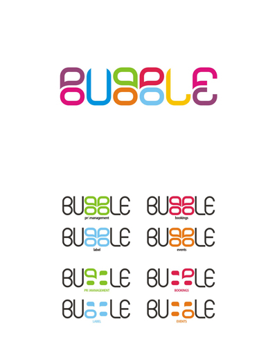 bubble, creative, colorful logo design for sale