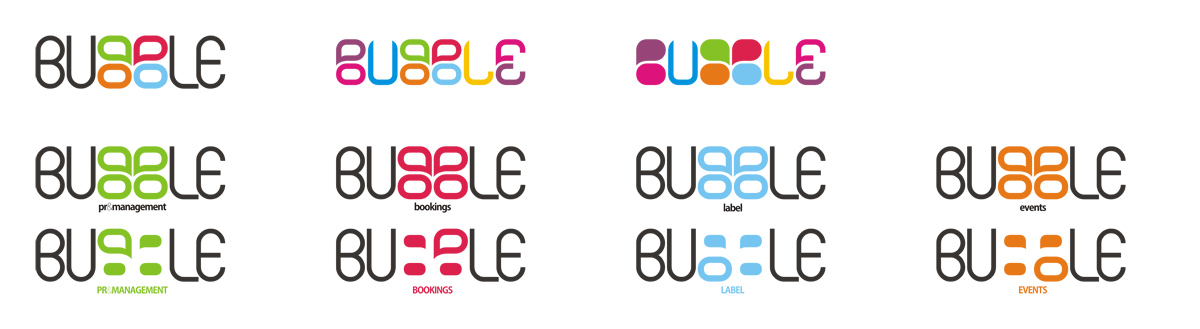 Bubble, logo design sub-branding by Alex Tass