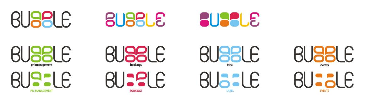 Bubble, logo design sub-branding by Alex Tass