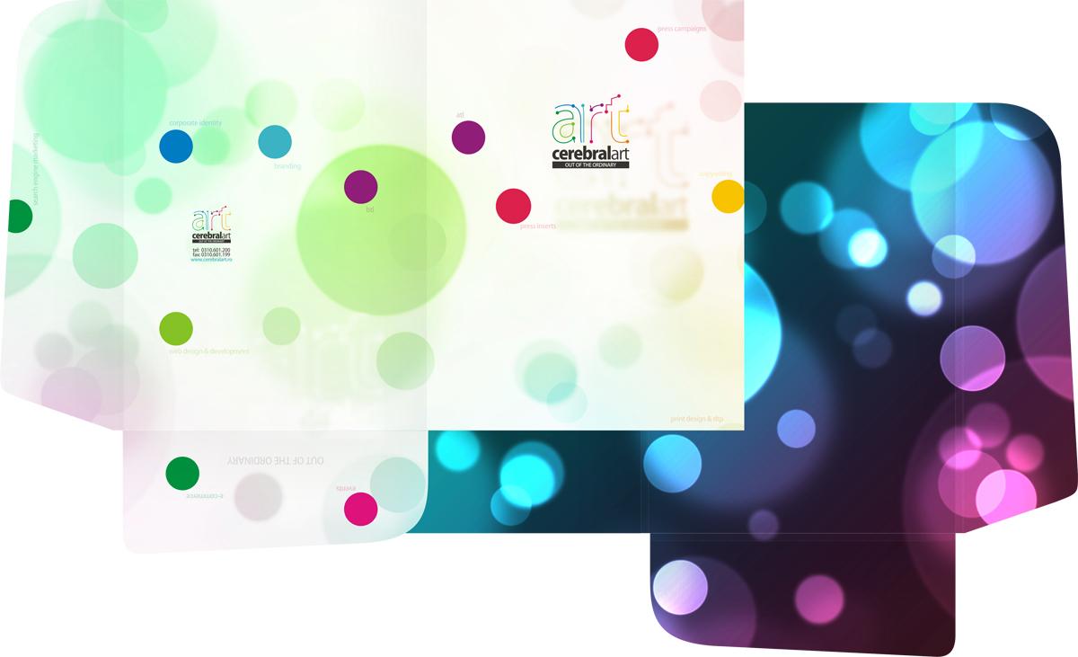 Cerebral Art, advertising agency, folder design by Alex Tass