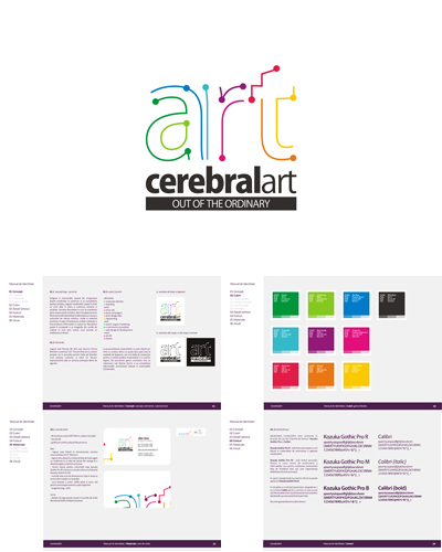 Cerebral Art, advertising agency logo design