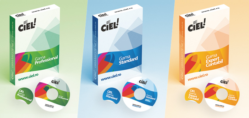 Ciel, accountancy firm, cd, sticker, packaging design by Alex Tass