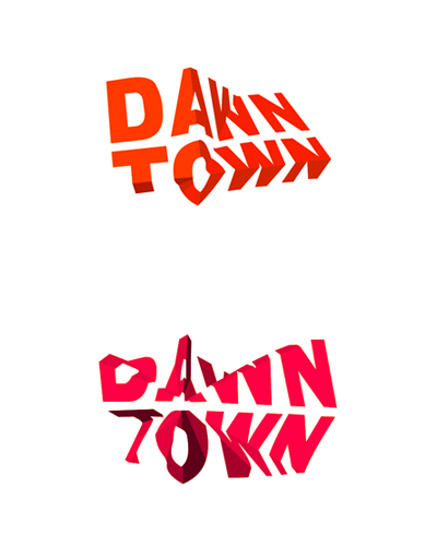 dawntown architecture project logo design by alex tass