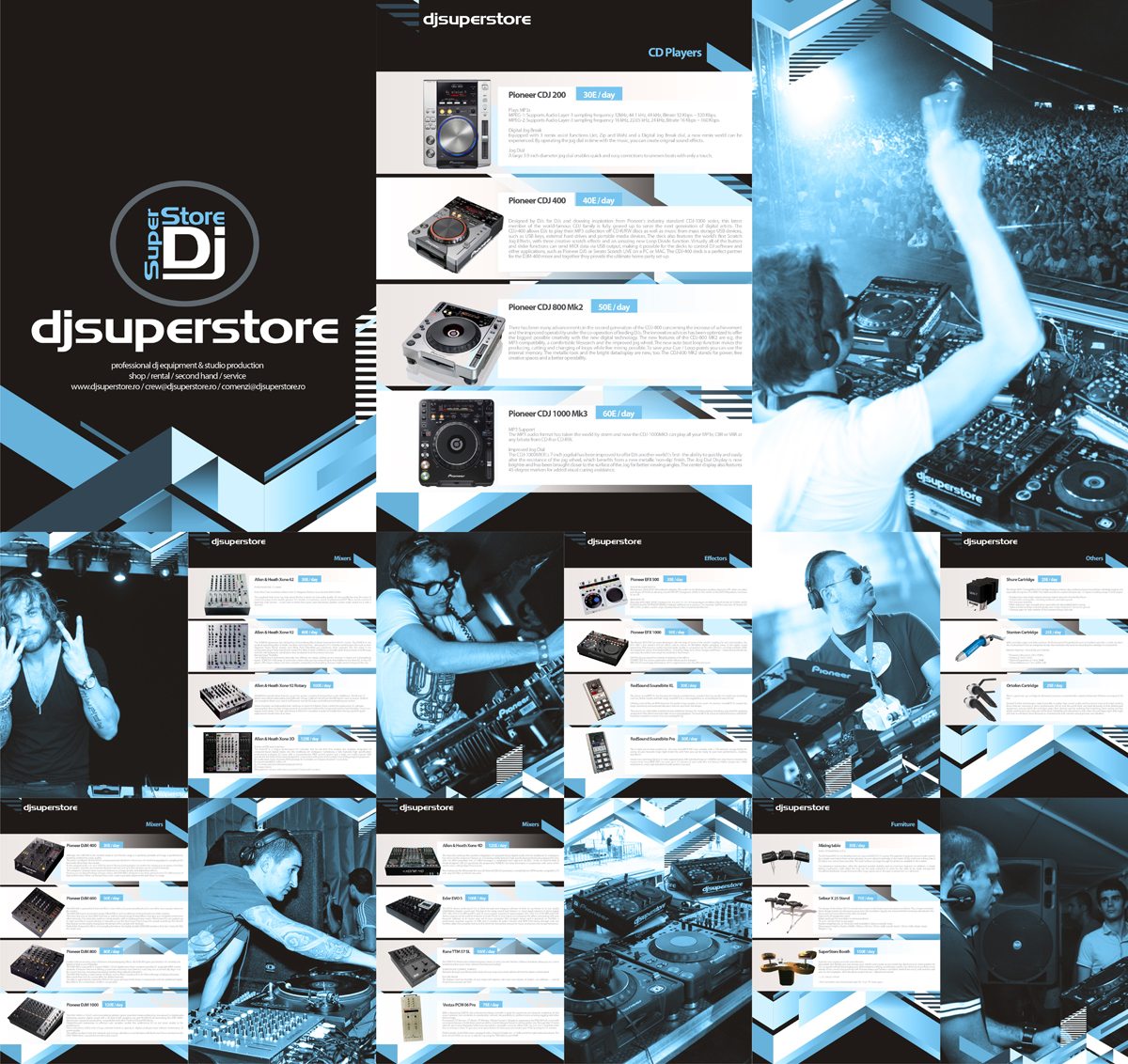 DjSuperStore, corporate presentation design by Alex Tass