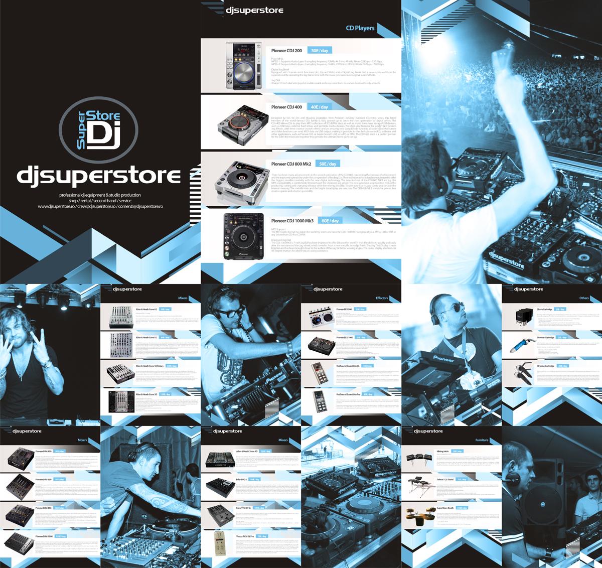 DjSuperStore, corporate presentation design by Alex Tass