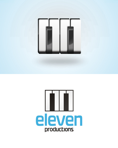 eleven audio production studio logo design