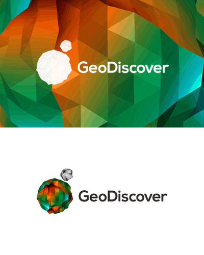 geodiscover gis, geographic information systems, it logo design by alex tass