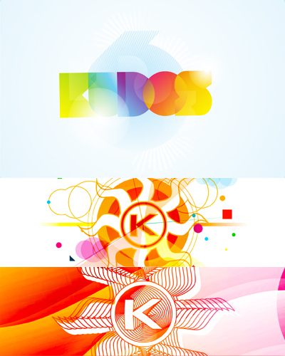 Kudos Beach, beach bar, club, 6, 9, 10 years anniversary logo design