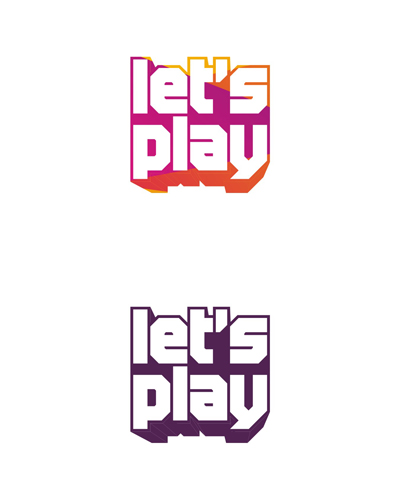 let's play, games, gaming, fun, play, playful, experimental design work, logo design for sale