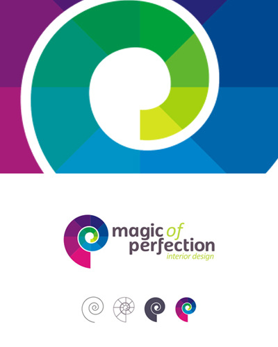magic of perfection interior design studio logo design by alex tass